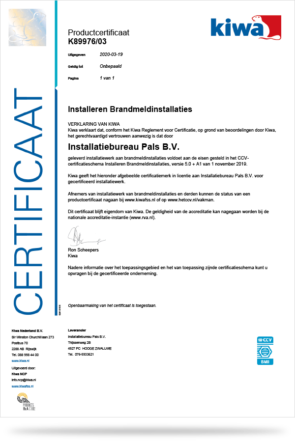 productcertificaat installeren bmi